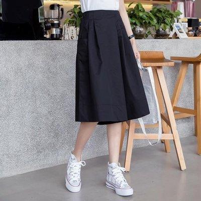 ZIHOPE 棉麻褲 褲裙女夏季高腰時尚顯瘦韓版寬鬆七分褲白色休閒褲闊腿褲ZI812
