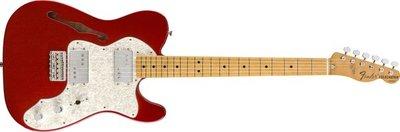 大鼻子樂器 Fender Mexico 電吉他 Vintera 70's Telecaster Thinline 蘋果紅