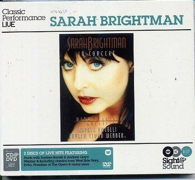 歐版全新CD+DVD~莎拉布萊曼Sarah Brightman倫敦皇家亞伯廳演唱會In Concert~Andrea B