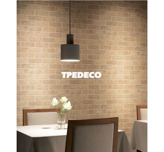 【大台北裝潢】日本進口期貨壁紙WVP* 仿建材 平面土黃磚紋 施工實景 | 9187 |