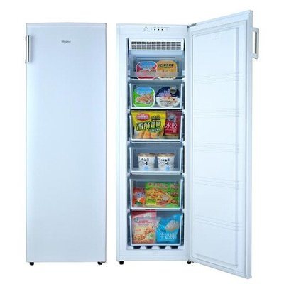 美兒小舖COSTCO好市多線上代購~Whirlpool 惠而浦 193公升直立式無霜冷凍櫃WIF1193W(1入)