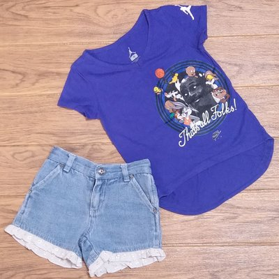 french toast kids girl short jeans 牛仔短褲 nike bunny rabbit short tee shirt女童短袖T恤