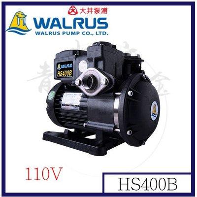 『青山六金』附發票 Walrus HS400B 大井泵浦 110V 家庭用泵浦 不生銹抽水機 靜音抽水機 低噪音
