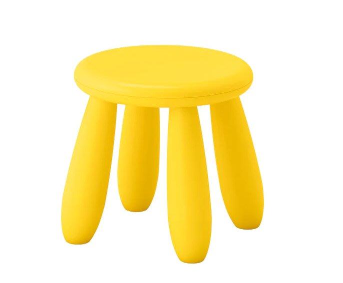 ☆創意生活精品☆IKEA MAMMUT 兒童圓椅 (黃色)/一個