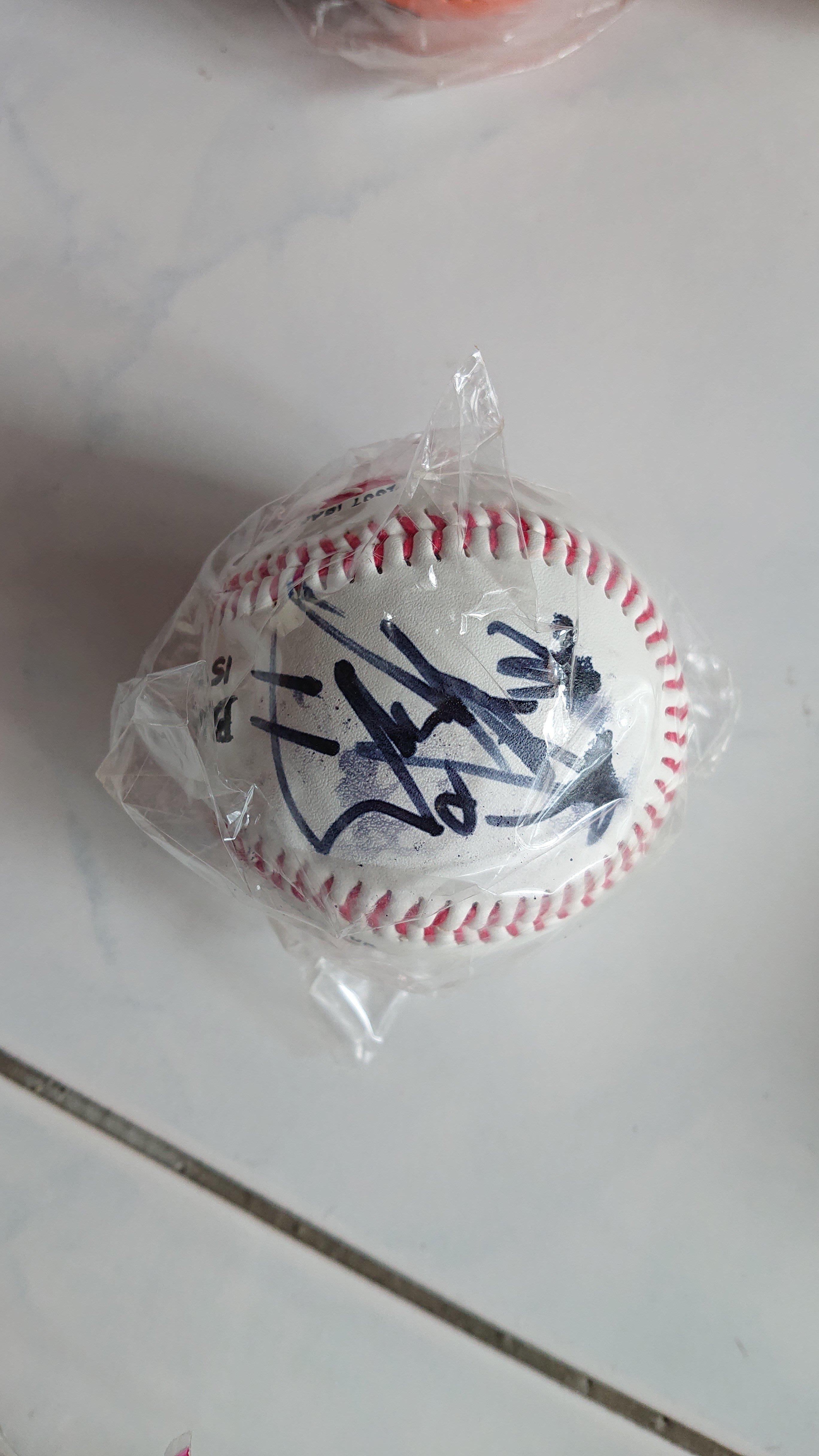 林恩宇 2007 IBAF 世界杯 棒球賽  白色款 簽名球 誠泰 兄弟 樂天 中華隊  請看商品描述