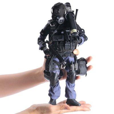 KADHOBBY仿真1/6比例SWAT破門手TE警高端兵人模型玩具飛鳥和蟬EEE080