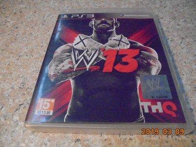 PS3 WWE13 激爆職業摔角13 亞英版 直購價500元 桃園《蝦米小鋪》