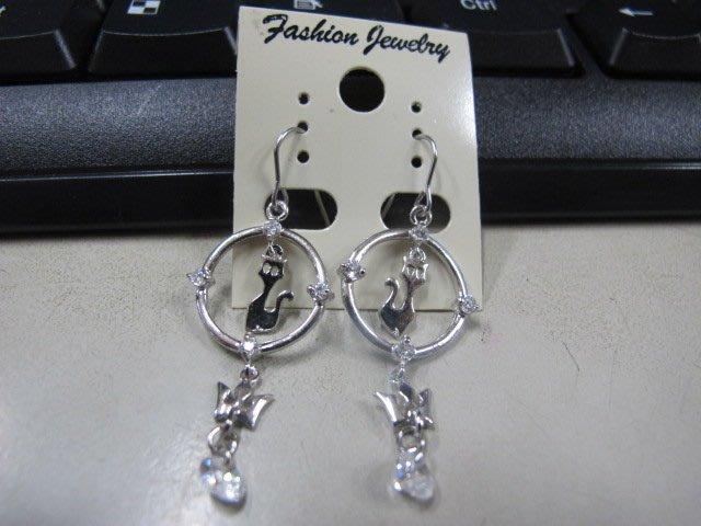 二手舖 NO.4476 時尚造型耳環 耳針 耳鉤 便宜賣 首飾飾品