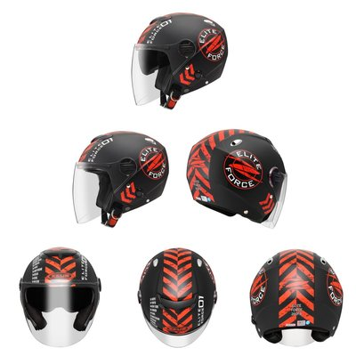 ZEUS 彩繪(消光黑紅)202FB 瑞獅 T63 加大安全帽 雙鏡片 內建墨鏡 輕量 可拆洗 半罩式 新北市