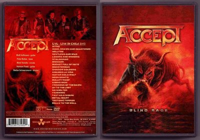 音樂居士#Accept - Blind Rage Live In Chile 2013 () DVD