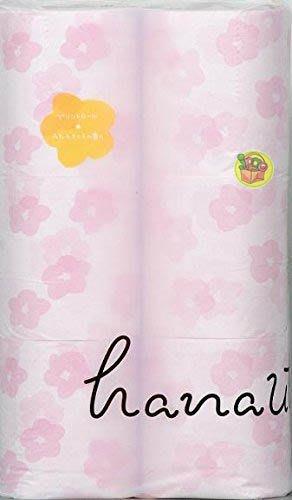 【JPGO日本購】超取最多一包~日本製 再生紙材質 滾筒式衛生紙 12捲入~粉色花朵 花香 #225
