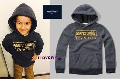 ❤美國專櫃帶回真品❤a&f童裝abercrombie&fitch kids guy麋鹿刺繡hoodie連帽tee-深藍色