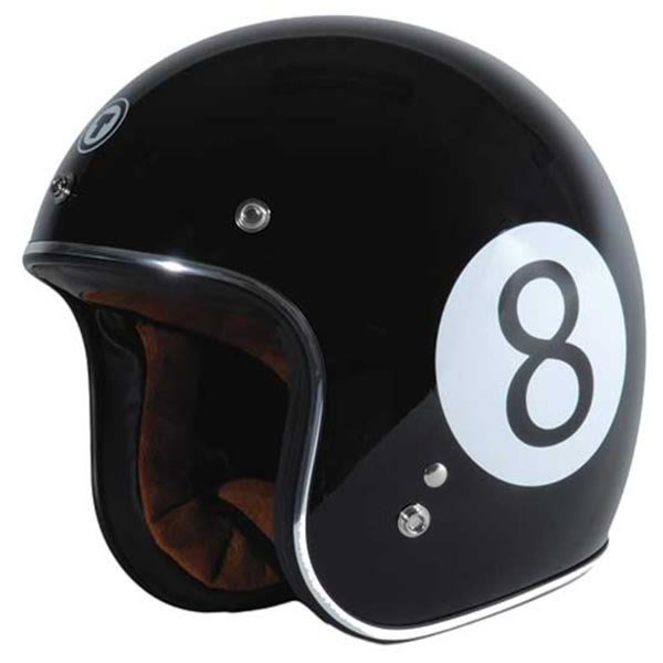 (I LOVE樂多)美牌TORC T50 BALLER八號球 亮黑 4/3安全帽