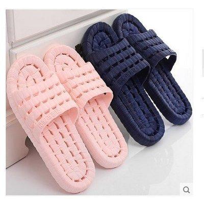 2雙免運 浴室拖鞋防滑洗澡漏水家居 室內拖鞋 男女士居家塑料情侶冬涼拖夏天 家居鞋 家庭雜貨 拖鞋 涼鞋