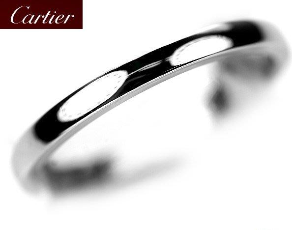 *保證真貨~知名品牌Cartier卡地亞-1895經典款婚戒 PT950鉑金戒 歐洲圍49號 ~超低價起標