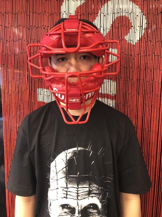 玉米潮流本舖 SUPREME RAWLINGS CATCHER'S MASK 棒球面罩 紅白LOGO 18WEEK10
