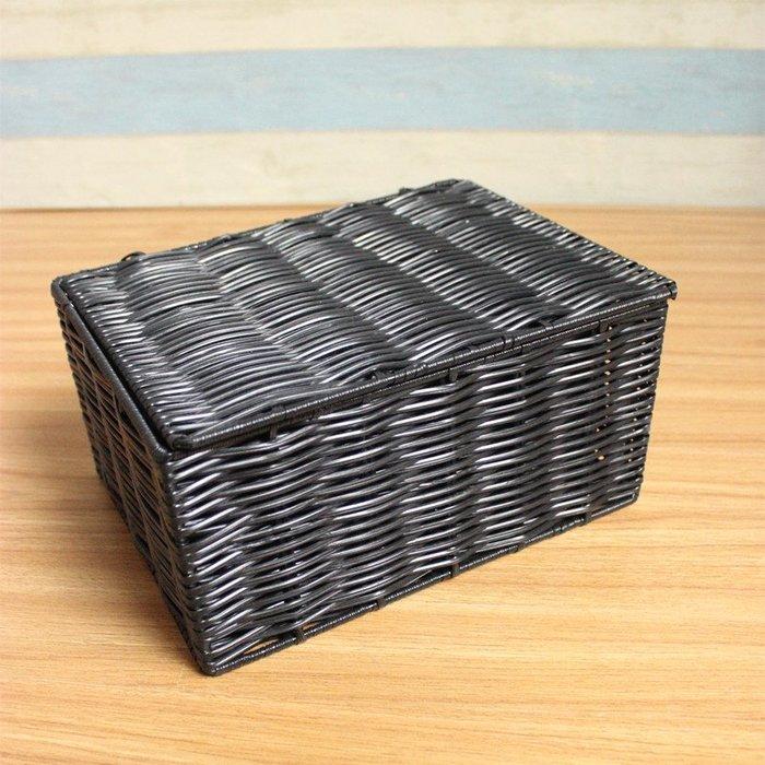 預售款-WYQJD-新品收納盒桌面化妝品帶蓋儲物筐塑料帶蓋內衣整理箱 ulbMpLkJrU