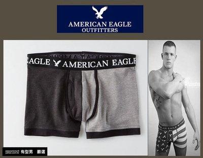 有型男~ AE American Eagle VS CK內褲 Underwear 短版黑灰四角褲 S M L XL貝克漢