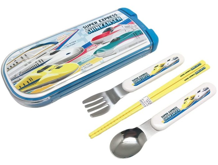 《FOS》日本製 OSK 可愛 新幹線 兒童餐具 湯匙 筷子 叉子 火車 學習 孩童 上學 國小 幼稚園 開學 熱銷新款