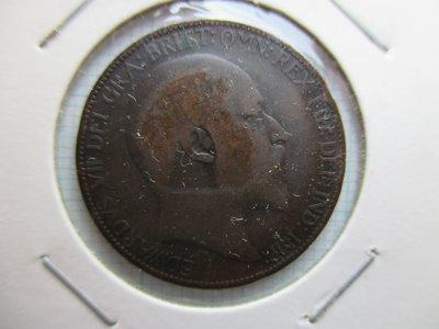 英國.Half Penny.1904年