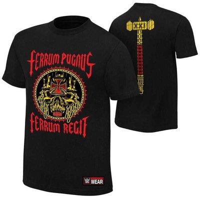 WWE摔角衣服 Triple H Iron Fist Iron Rule 鐵拳,鐵律 黑色短袖T恤 買三免運