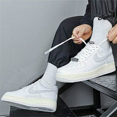 [RG專業代購]Nike Air Force 1 07 Premium Toll Free字母反光百搭潮流男女鞋(+)