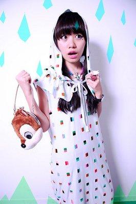 Pet shops girl 彩色格子連帽造型領圍/假領(dirty pretty/screaming)