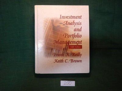 【愛悅二手書坊 07-60】Investment Analysis and Portfolio Management