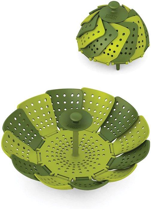 【樂活先知】『現貨』美國Joseph Joseph 40023 Lotus Plus 折疊式防刮傷蒸籠,綠色