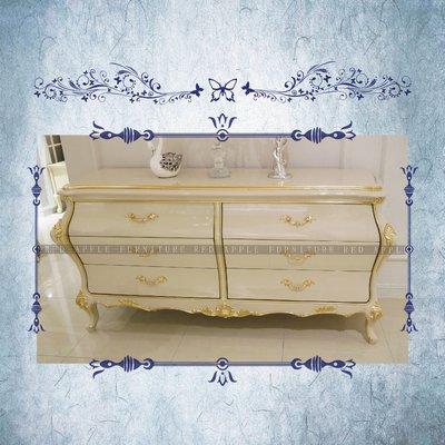 [紅蘋果傢俱] CT-009 新古典系列六斗櫃 歐式 歐式斗櫃 實木斗櫃 高檔 法式沙發 奢華
