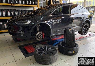 電動車 超跑 全新輪胎 倍耐力 ZERO 265/35-22 TO 消音棉 TESLA 特斯拉 MODEL X 實裝圖