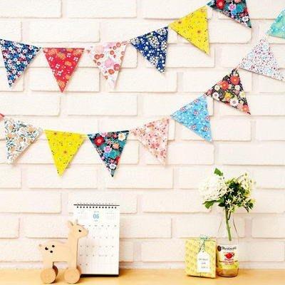 ♀高麗妹♀韓國 ARDIUM FLOWER GARLAND 花之嚮宴 派對/慶生/小孩房佈置 裝飾三角旗(現貨)