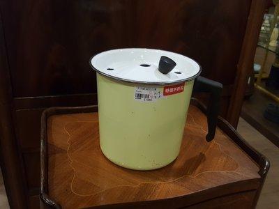 【卡卡頌 歐洲跳蚤市場/歐洲古董 】法國老件_淡黃色琺瑯鍋具 器皿 m0204
