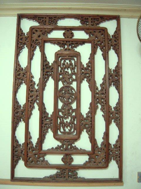 古董原木雕刻窗花(B)