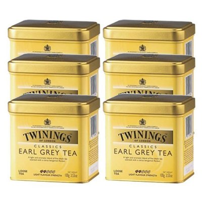 TWININGS 唐寧伯爵紅茶-英國皇室御用茶 EARL GREY TEA 500g/罐6入裝-【良鎂咖啡精品館】