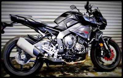 【億錡】重機零配件行 TechSpec YAMAHA MT-10 MT10 黑色硬式 油箱貼