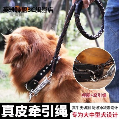 【優上精品】狗鏈 狗狗牽引繩 寵物胸背帶金毛狗繩子小中大型犬項圈狗狗用品(Z-P3234)