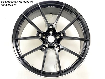 土城輪胎王 客製 19吋鍛造鋁圈 平光黑 5/108 5/112 類 RAYS G025