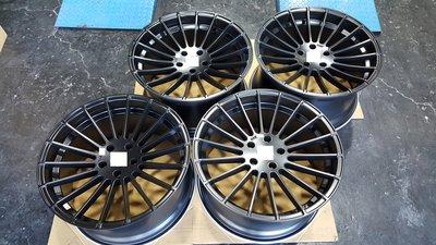 21吋類H牌鋁圈~消光黑大內凹放射式樣~BMW.E53.E70.E71.F15.F16.X5.X6~