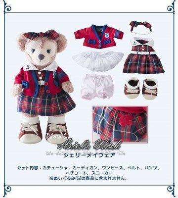 Ariel's Wish-日本Tokyo東京Disney迪士尼Shelliemay英倫學院風格子坐姿S號衣服六件組-現貨