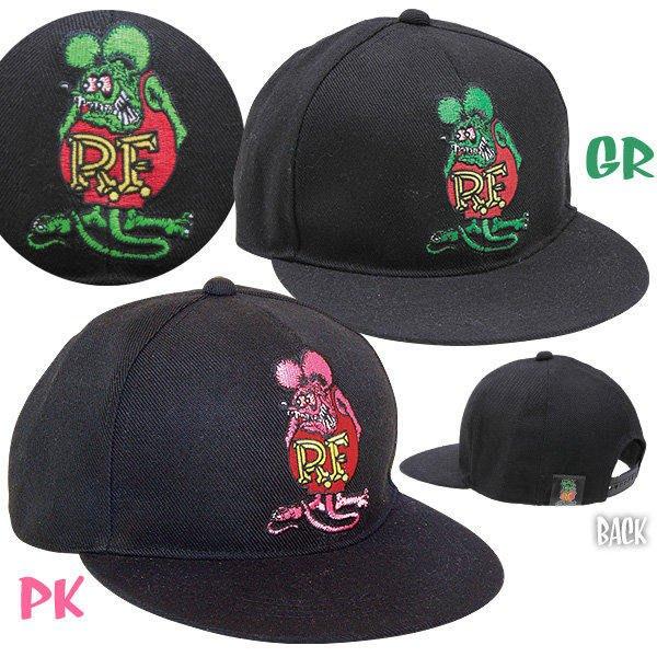 (全新)美國正版 FUNKO RAT FINK RF經典老鼠芬克刺繡棒球帽(粉,綠)mooneyes