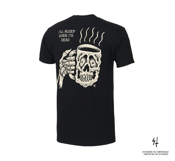 GOODFORIT / 美國Sketchy Tank Caffiend T-Shirt 骷髏咖啡杯上衣/S