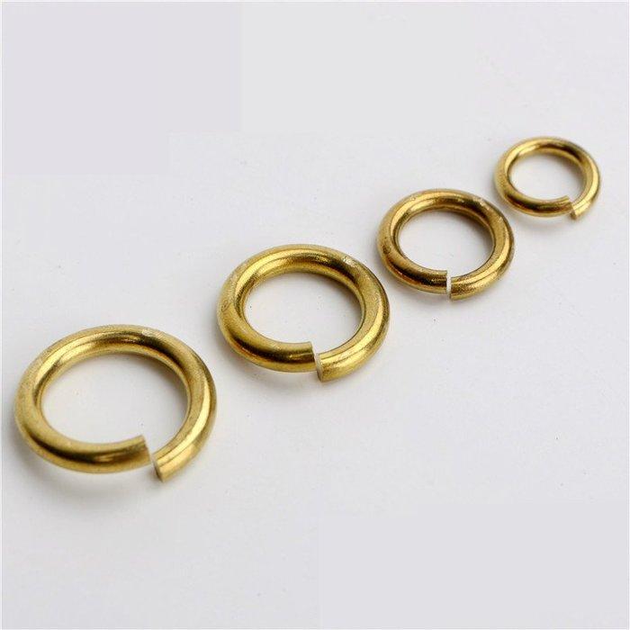 (現貨)G-080-2 加粗款 3.0x25mm 純銅線切割開口銅圈 黃銅平口圓環切口C型扣馬蹄扣財布配飾連接環扣DIY