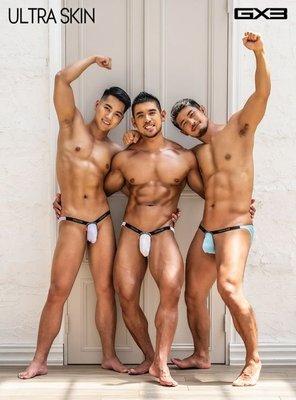 [性感裸比] GX3 Ultra-Skin男性終極性感爆表三角褲三件組1100元(全館滿千現折100元)K1247 現貨