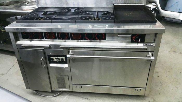 日發二手貨 西餐爐二主一副ㄧ煎台一烤箱 烤箱 煎台 爐台 二手餐飲設備收購 二手回收 家電收購