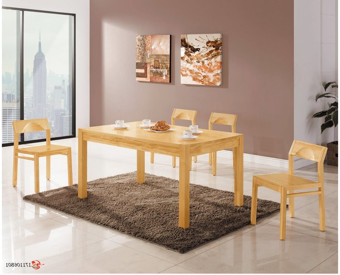 【南洋風休閒傢俱】餐廳家具系列-傑克本色餐桌 餐桌 餐廳桌 (金609-1)