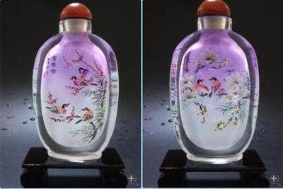 寒雀圖中國禮品商務出國禮品中國風擺件送長輩禮品內畫鼻煙壺可定制 壺說95