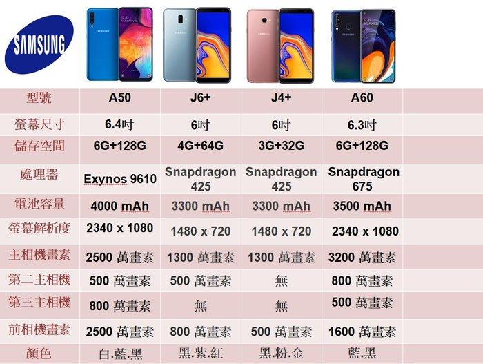 Samsung Galaxy A6+ 搭中華遠傳台哥大台灣之星$0元再送行動電源玻貼空壓方案請洽門市