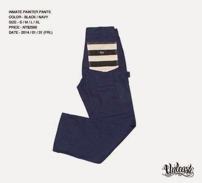 【AXE】UNLEASH - INMATE Painter Pants 囚犯工作褲 [深藍]西岸街頭刺青SOCAL重機
