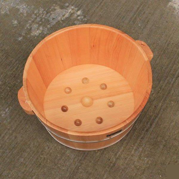 5Cgo 【批發】含稅會員有優惠 38628334081 無結疤鐵杉木桶泡腳木桶洗腳盆洗腳桶泡腳盆 SPA足浴桶